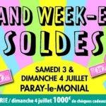 3 et 4 Juillet – Grand week-end des Soldes