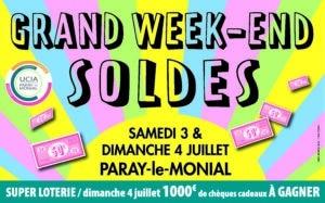 Read more about the article 3 et 4 Juillet – Grand week-end des Soldes