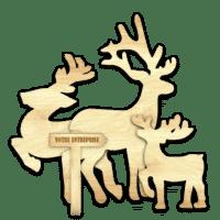 Déco Rennes de Noël (Famille de 3)